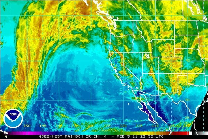 West Coast Sat Image